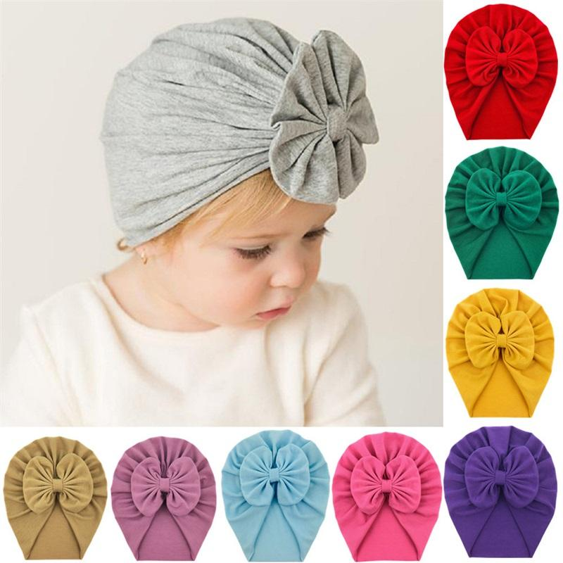 15 ألوان أحدث طفل قبعات قبعات مع عقدة ديكور أطفال بنات اكسسوارات العمامة عقدة رئيس يلف أطفال الأطفال الشتاء الربيع قبعة 742 S2