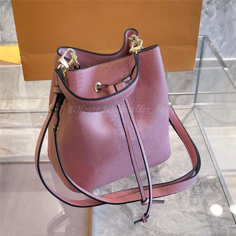 Carteira Ombro Crossbody Bucket Bag Bolsas bolsas Carteiras Tote Barril-em forma de Barril String String Totes Mulheres Luxurys Designers Sacos 2021 bolsa de bolsa