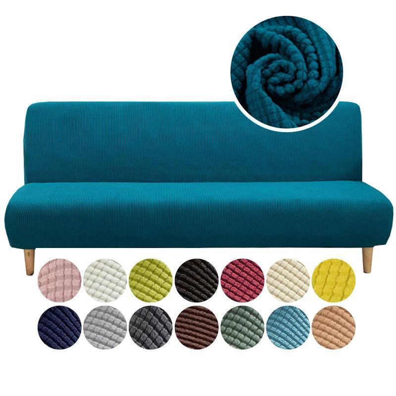 Universal armlose Schlafsofa-Bett-Abdeckung Falten moderner Sitzschütze Stretchabdeckungen Couch Protector elastische Futon-Spandex-Stuhl