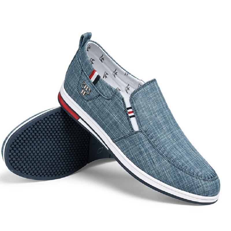 남자 실행 신발 회색 파란색 통기성 편안한 망 트레이너 캔버스 신발 스포츠 스니커즈 주자 크기 40-44 07