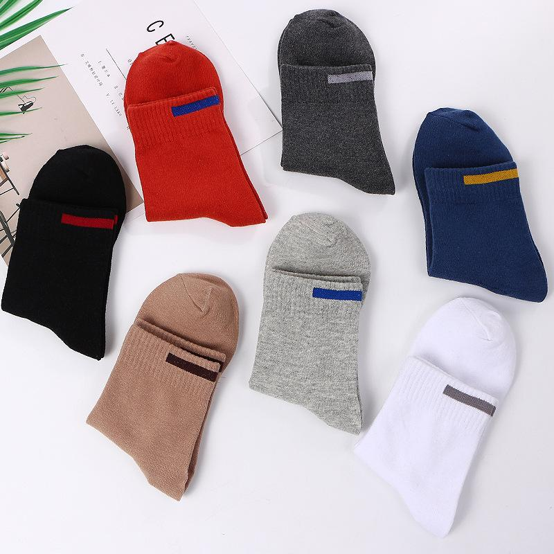 Sólido pano sinal design merino lã meias recentemente outono inverno homens homens tripulação meias lionzone lã mens meias venda quente