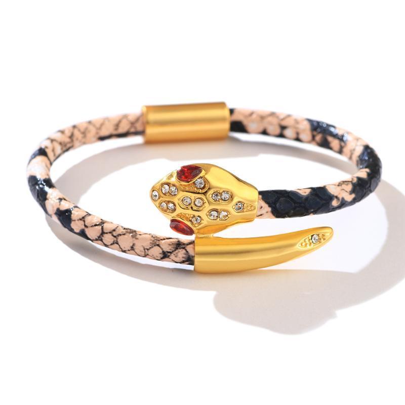 Armband Handmade Armband Snake Head Edelstahl Männer und Frauen Accessoires Hochwertiger Metall Armband Geschenk Schmuck 2021