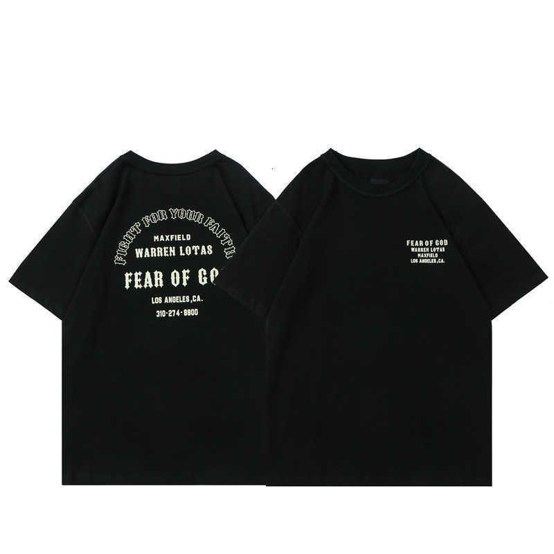 Ch Crosin H / Greare / Brand Brand Brand FPG dell'orecchio di God Limited Christian Alphabet Stampato Manica corta Tshirt