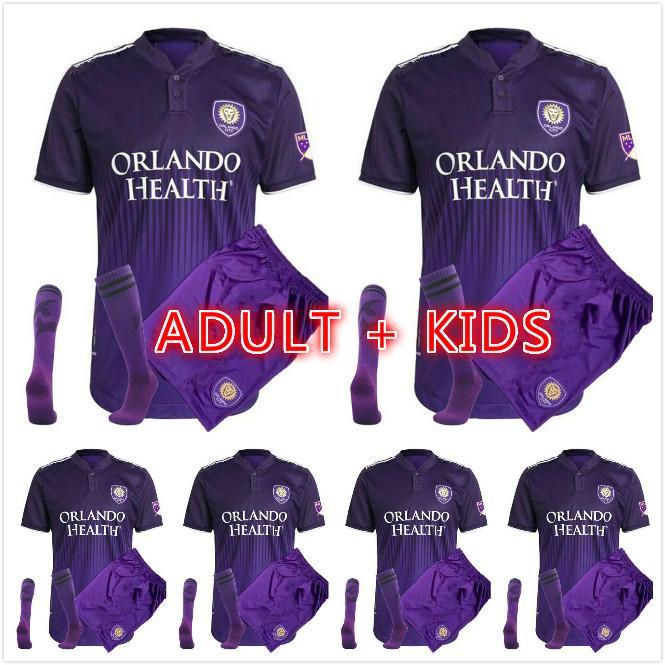 Erkekler Çocuk Kiti 2021 2022 Orlando Şehir Futbol Forması SC 21 22 Ev Nani Pato Dwyer Akindele Mueller Moutinho Ruan Kljestan Johnson Futbol Gömlek