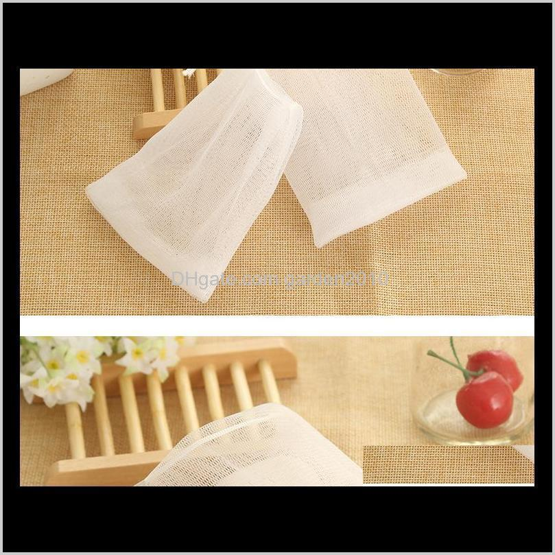 Bath Brushes Sponges Scrubbers Blister Bubble Net Face Wash Froth Nets Soap Mesh Manual Bag Bathroom Accessories M56F1 W9Hnx