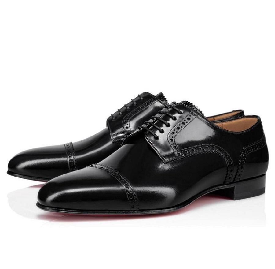 Элегантный дизайнер Eygeny Derby Dress Shoes Generalman красные кроссовки Out-Cuts Borwn черная кожа Oxford ходьба мужской женской свадебной вечеринки мокасины EU35-47