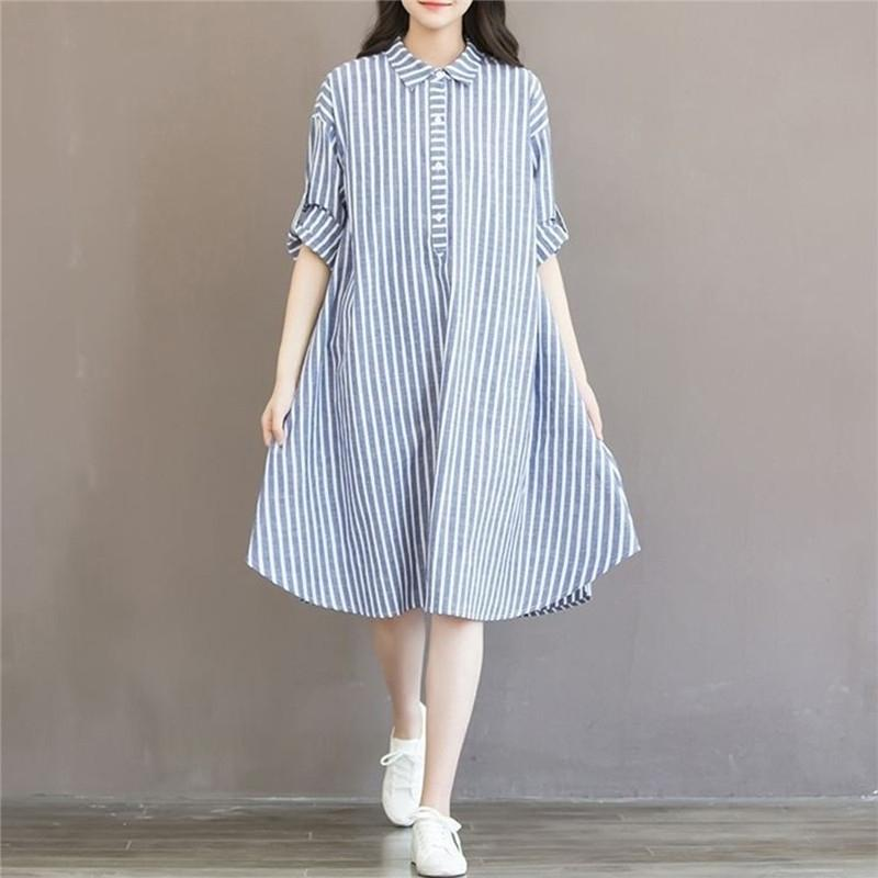 Striped Dress Lining Dress for Pregnant Maternity Women Clothes Breastfeeding Pregnant Clothes Pregnancy Long Sleeve Clothes 210406