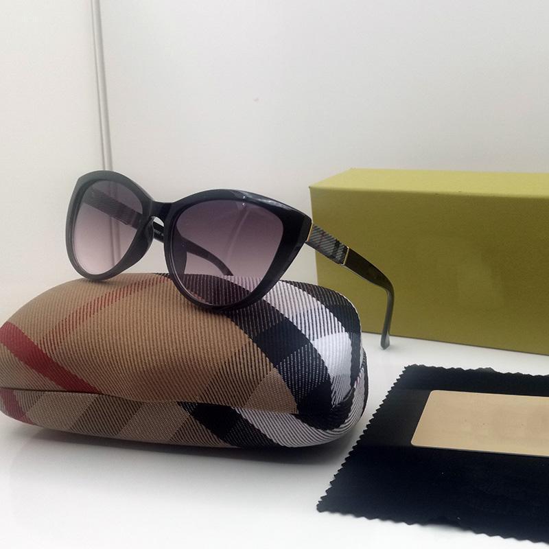 2021 Mode-Accessoires Neueste Sonnenbrille UV400 Full-Frame Rosa Roundglasse Katzen Eye Luxury Designer Herren und Womens Gläsern Valentinstag Geschenke 004