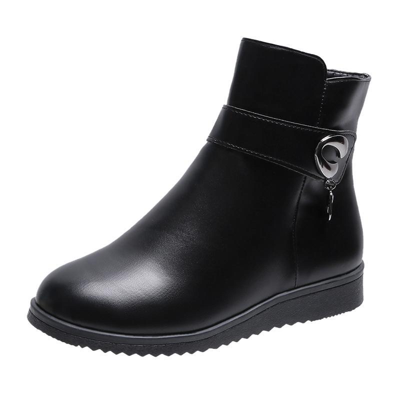 Winter Short boots Women Designer Socks boots Block Round Toe low Heel Lady WARORWAR Brand YN13-337