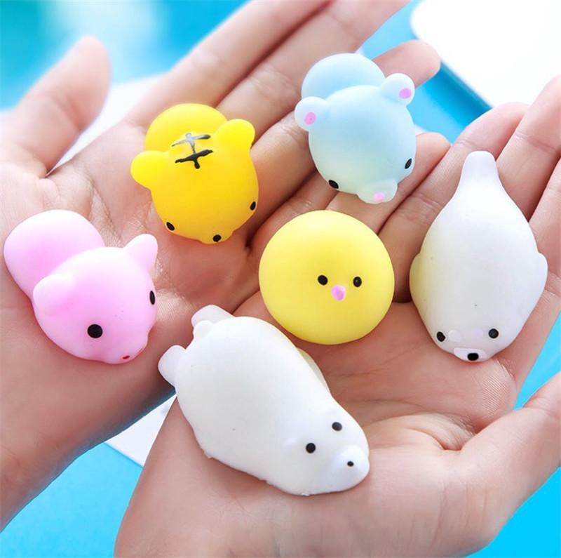 Mini Squishy Kawaii Animales Mochi Juguete Squereez Rising Toys Abreact Soft Sticky Squishi Alivio Estrés Regalo Divertido