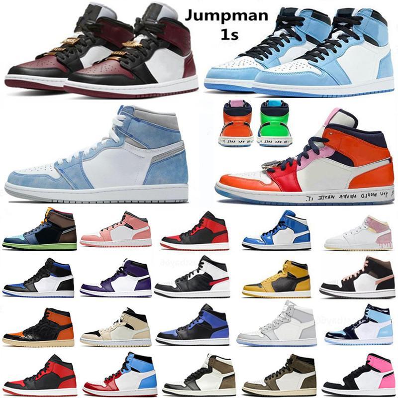 En Kaliteli Jumpman 1 1 S Basketbol Ayakkabıları Hiper Kraliyet Işık Duman Gri Karanlık Mocha Üniversitesi Mavi Chicago Gölge Siyah Pancar 12 12 S Düşük Paskalya Dondurma Sneakers