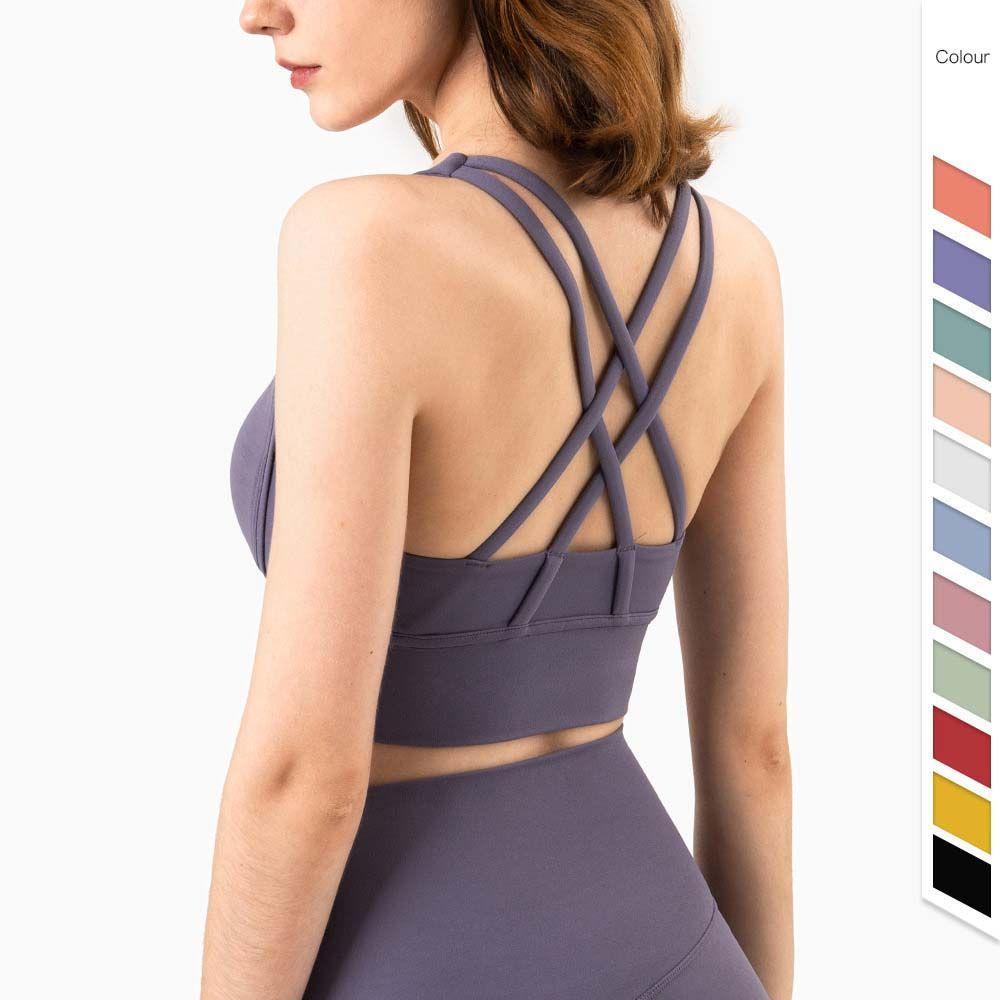 2021 Femmes Vest Yoga Bra pour femmes Gym Sous-vêtements Conversion d'alignement Même Sports Élastique Fitness Lady Lingerie Jerseys