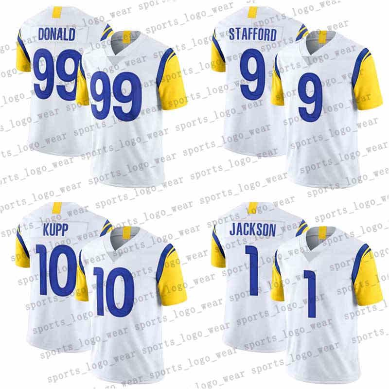 Los Angeles Rams NFL Football Jerseys 99 Aaron Donald 9 Matthew Stadord 1 Desean Jackson Cooper Kupp 23 Cam Akers 29 إريك ديكرسون 89 Tyler Higbee 77 أندرو ويتورث