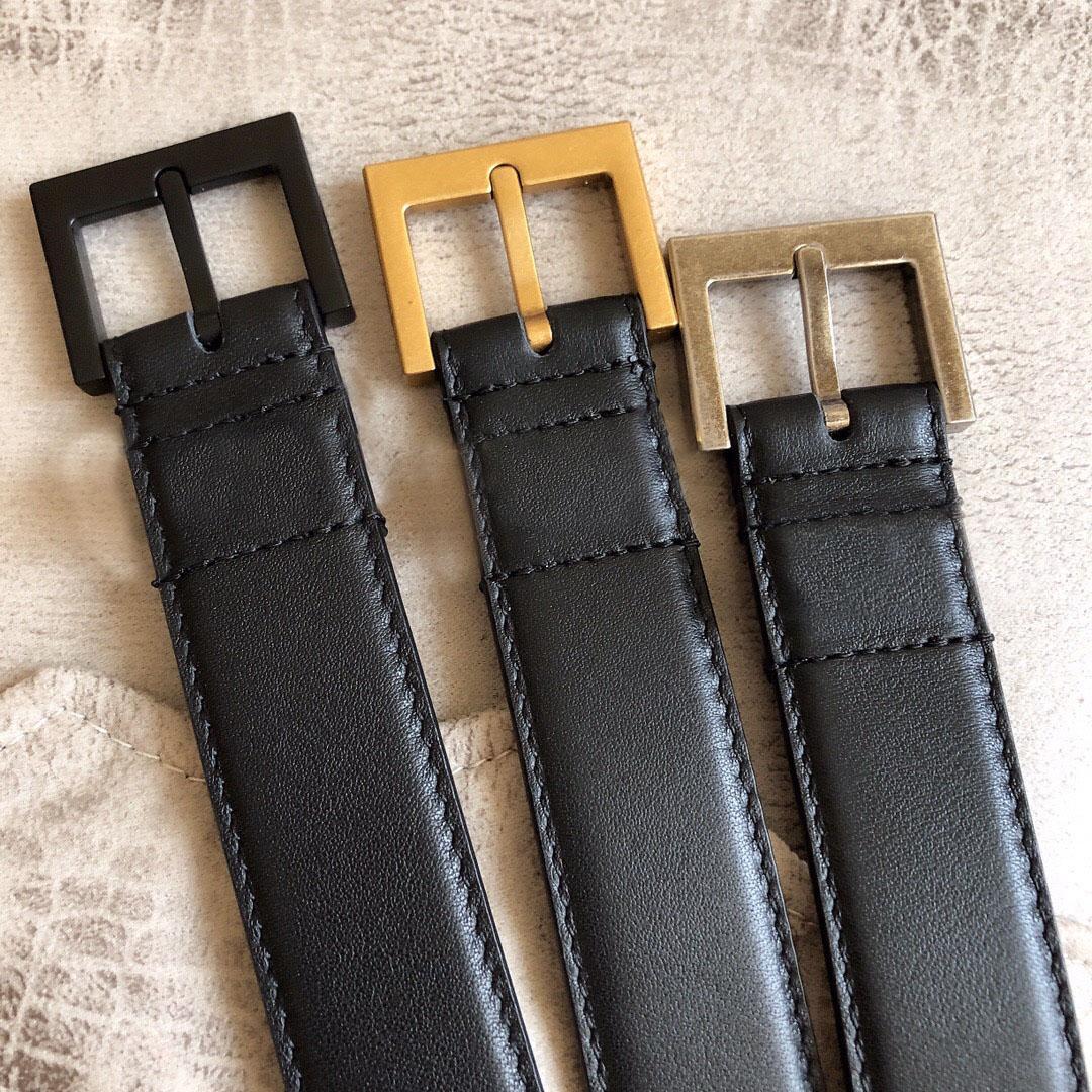 2021 2 سنتيمتر و 3 سنتيمتر أزياء المرأة الصفراء الرجال مصممين أحزمة حزام كلاسيكي مع مربع، إنتاج الجلود الحقيقي، مصدر المصنع