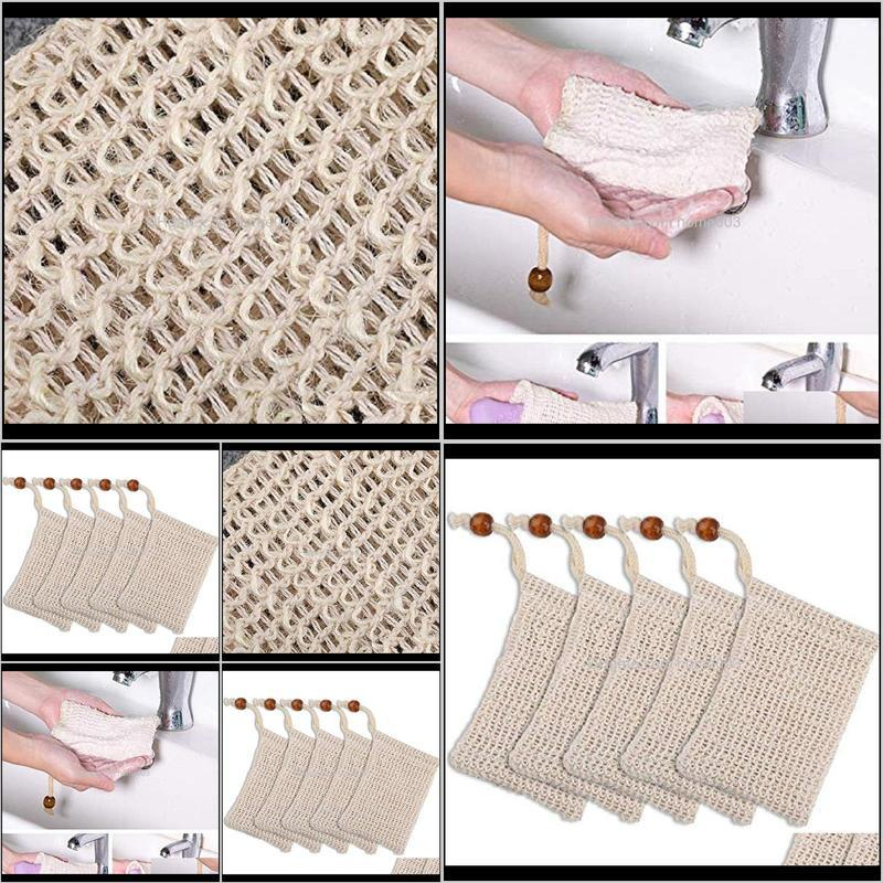 Brushes, Sponges Scrubbers Bathroom Aessories Home & Garden2021 Natural Exfoliating Mesh Sisal Soap Saver Bag Pouch Holder For Shower Bath F