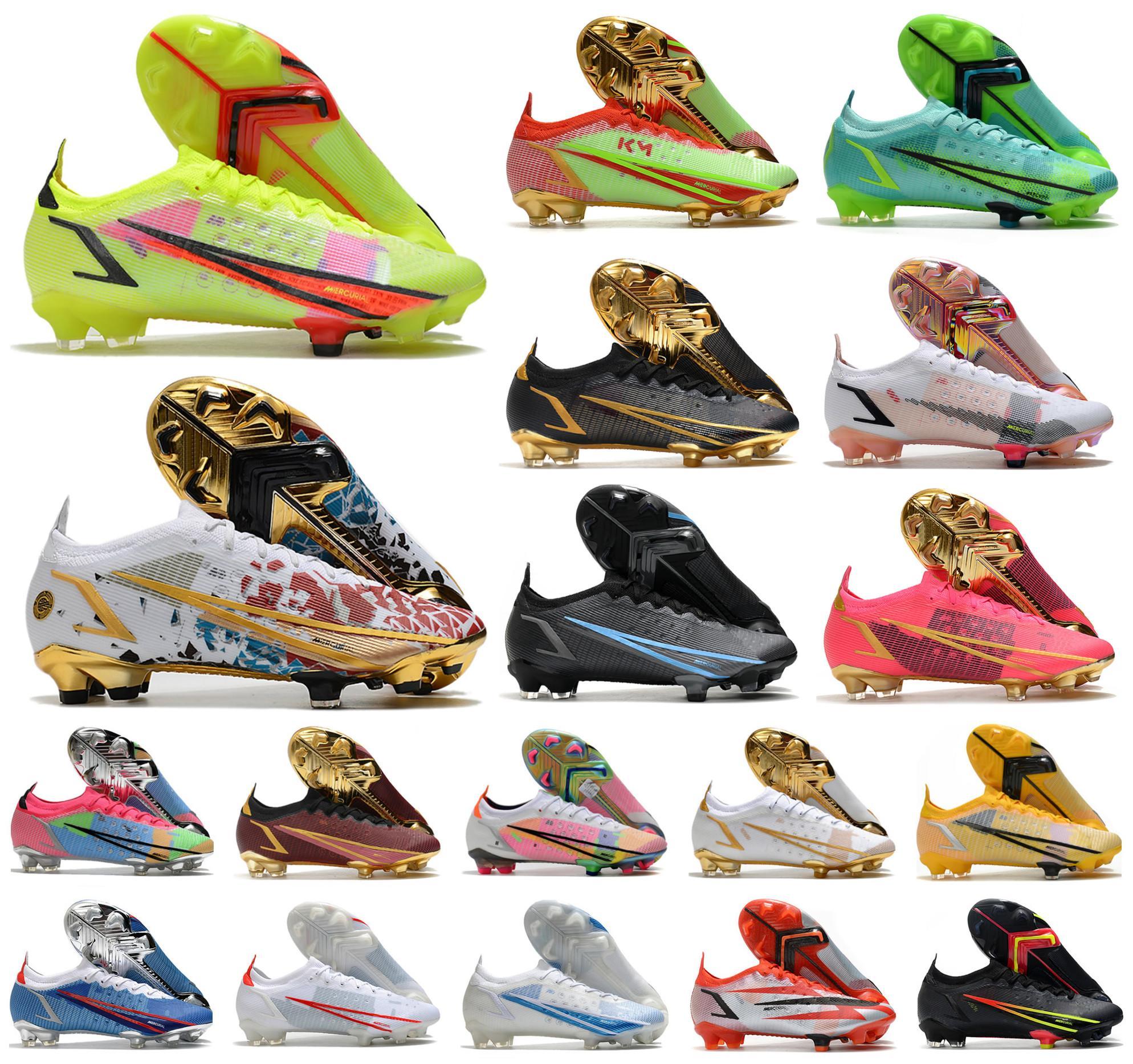 2021 Homens VA Pors Dragonfly XIV 14 360 Elite FG Soccer Shoes SE CR110 Ronaldo Km10 Nova temporada Rawdacious Impulse Pack Baixo Mulheres Crianças Futebol Botas Botas Tamanho 39-45
