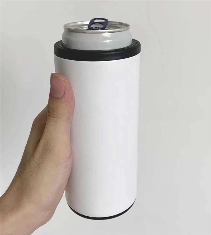 12Oz Sublimation Skinny Dosen Kühler Edelstahl Tumbler Isolator Doppel Wand Vakuum Bierhalter Für Standard 330ml Normale Cola Kann es kalt AAA halten
