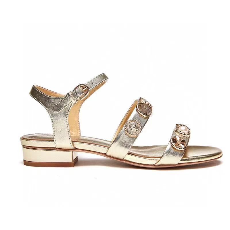 Çok Renkler Hakiki Deri Konforlu Plaj Ayakkabı Rahat Tasarımcı Sandalet Lüks Kadın Moda Butik Boyutu 35 - 41 TicaretBear