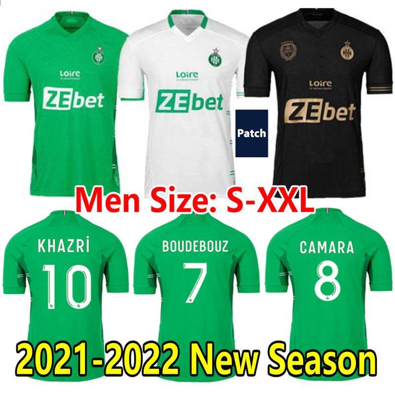21 22 Maillot Asse Soccer Jersey 2021 2022 As Etienne Khazri Boudebouz Camara Mailleots Deout Aouchiche Abi Hamouma Bouanga Gabriel Silva Men Kids Kit