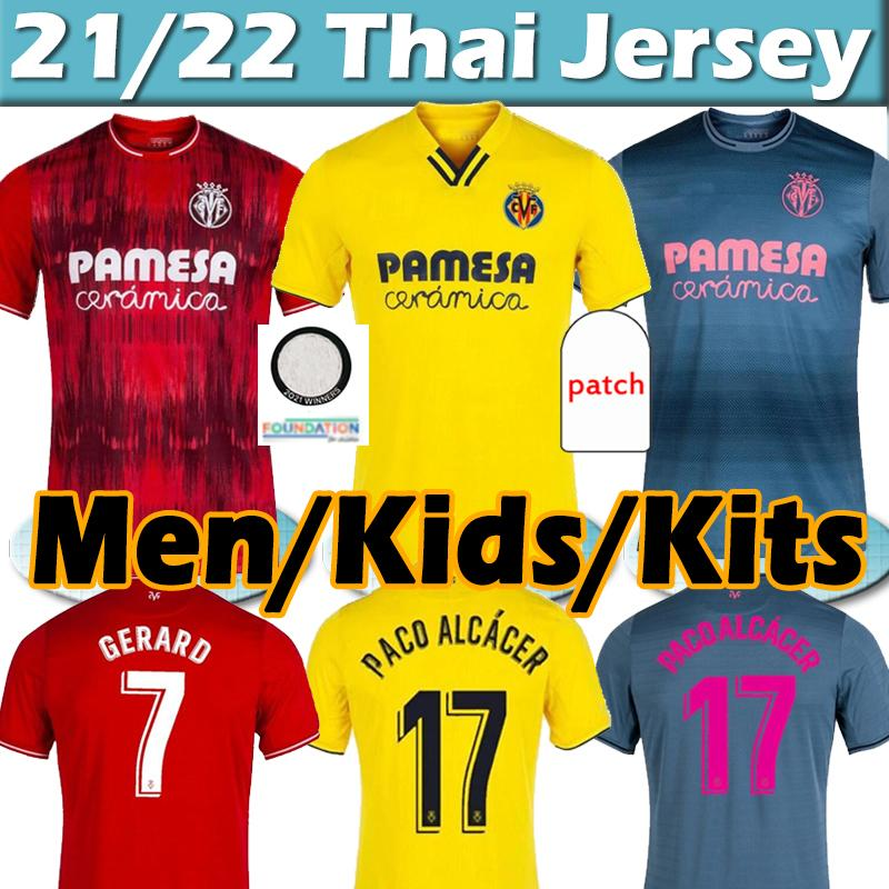 2021 2022 Villarreal CF Jersey di calcio 21/22 Pau Gerard Paco Alcacer Chukwueze Camiseta Dia A. Uppraza Yeremi Foyth Parejo Maglie da uomo Kids Kit Kit Camicie da calcio Thai