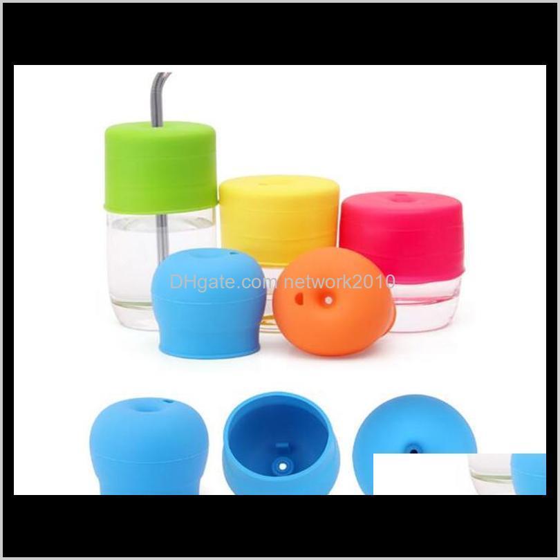 Drinkware Sile Sile Sile Lid Nipple Lids أي حجم أطفال القدح تسرب كوب للرضع والأطفال الصغار BPA 1TMWK IUFBT