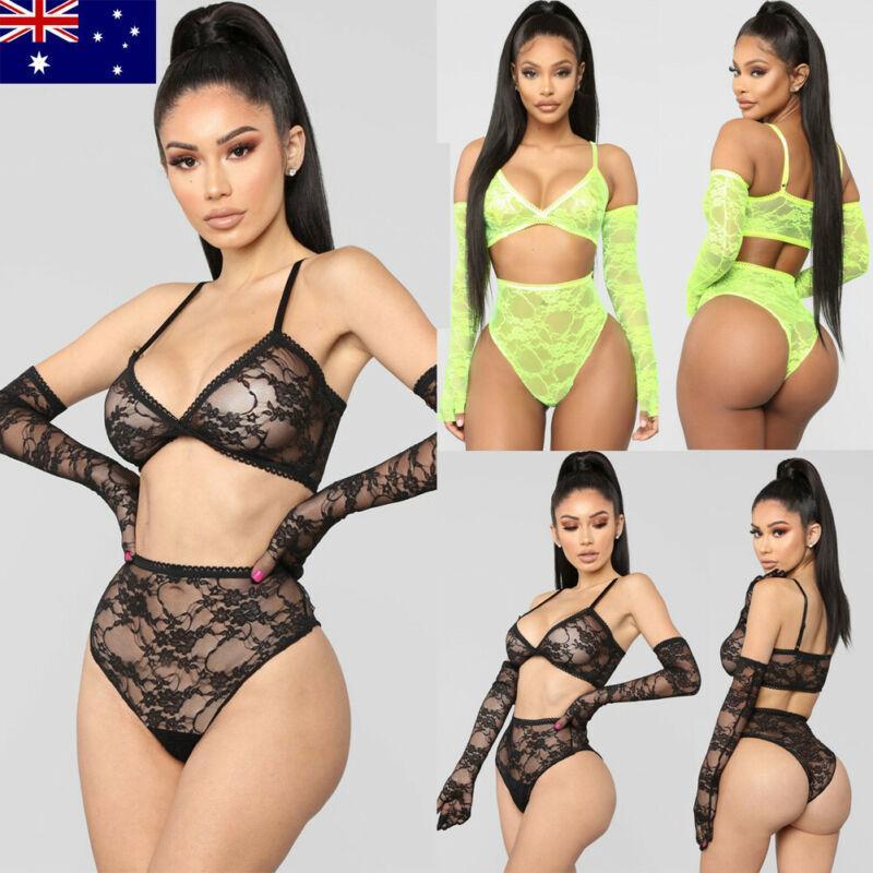Womens Sexy / Sissy Lingerie Dentelle Babydoll G-String String Sous-vêtements