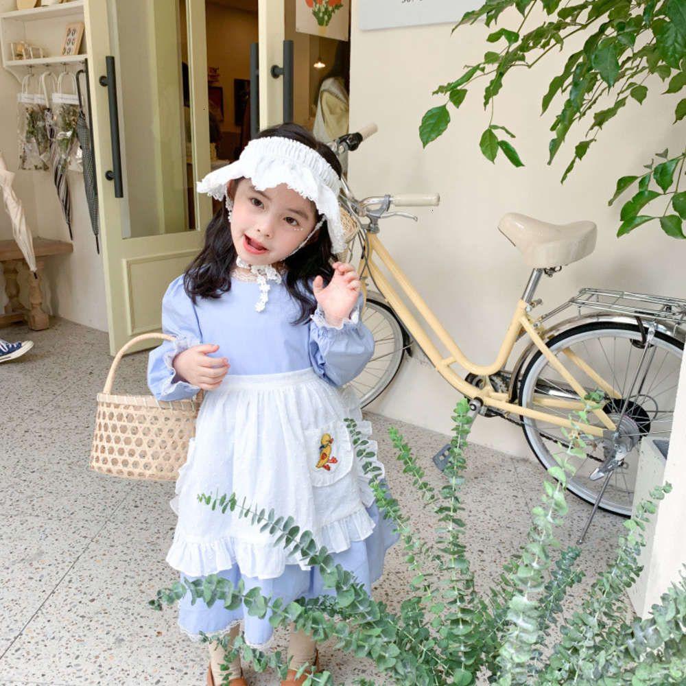 Meninas Vestidos Físicos Shootingset Menina Lolita Amur 2021 Macaco Primavera Outono Princes Coreano Drs Dois Pedaço
