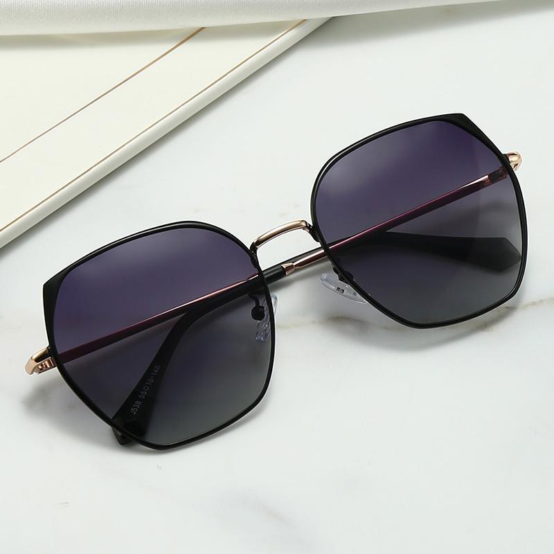 Unregelmäßige runde Sonnenbrille, polarisierte avantgardistische Persönlichkeitsmetall