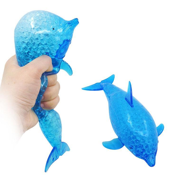 Squishy Dolphin Shark Fidget Toy Anti Stress Grape Ball Squeeze Brinquedos Descompression Ansiedade Reliever Bolas de Ventilação