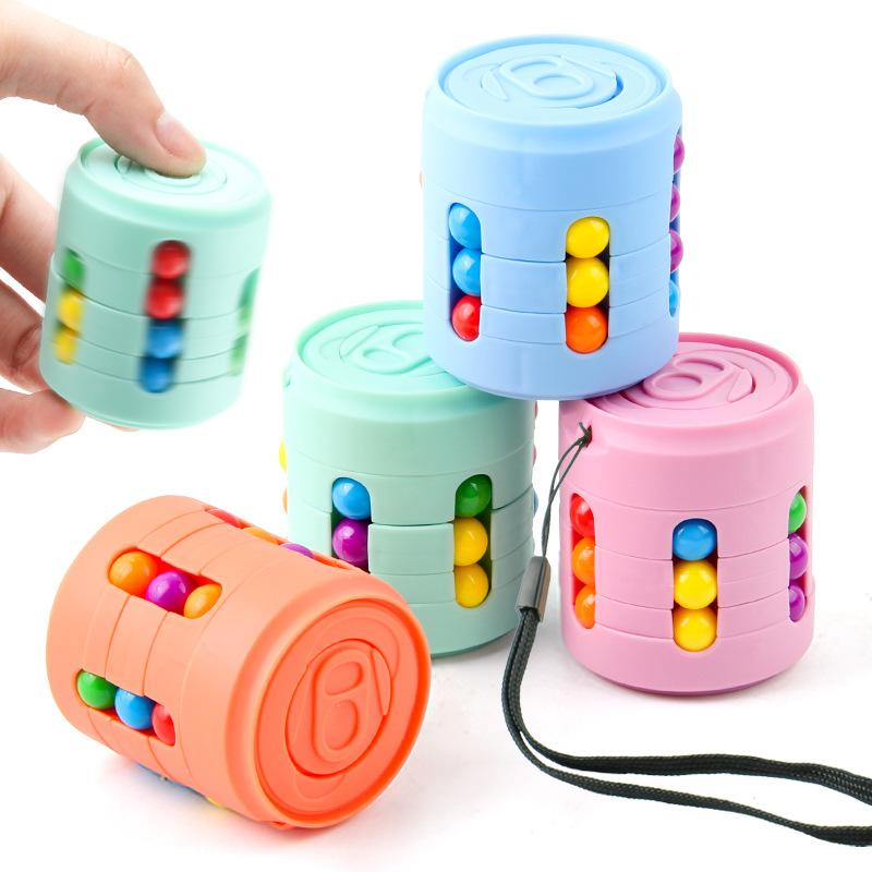 Magic Bean Quebra-cabeça Bola Cans Cubo Crianças Inteligência Educacional Brinquedos Hand Spinner Fidget Brinquedo Presentes Fingertip Spinning Top