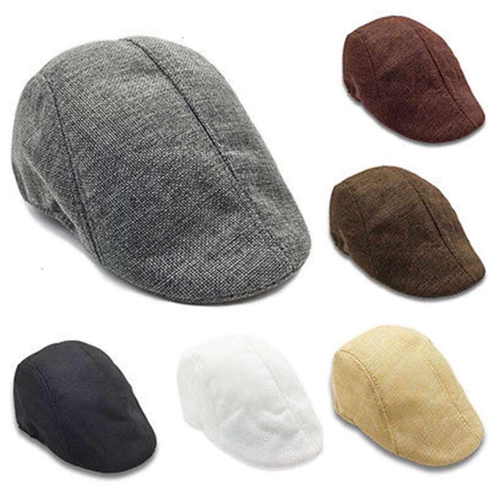 6 couleurs Gatsby Newsby Cap Hommes Femmes Casual Coton Coton Hat Golf Conduite Appartement Cabbie Plat Bérets Unisexe Chapeau