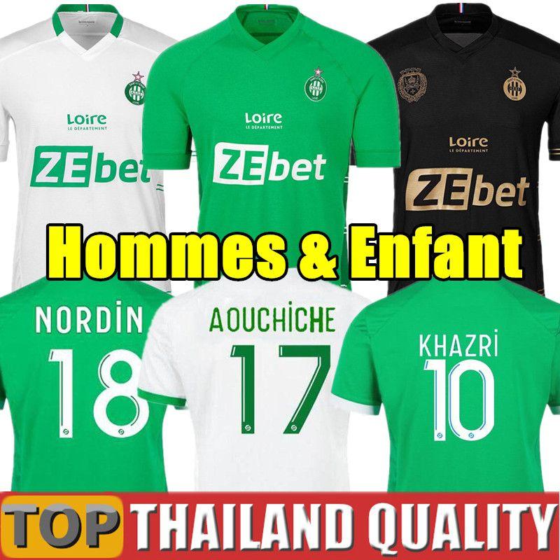 19 20 AS Saint-Etienne Futbol Formaları 2019 2020 ASSE Étienne Futbol forması seti KHAZRI CABELLA BERIC NORDIN HAMOUMA erkekler çocuk kiti üniforma