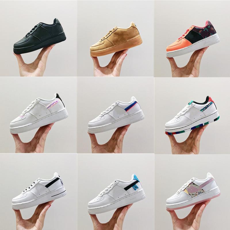 2021 Marka İndirim Çocuklar Bebek Toddlers Flyline Koşu Ayakkabıları Spor Kaykay Onları Ayakkabı Yüksek Düşük Kesim Beyaz Siyah Açık Eğitmenler Sneakers 25-35