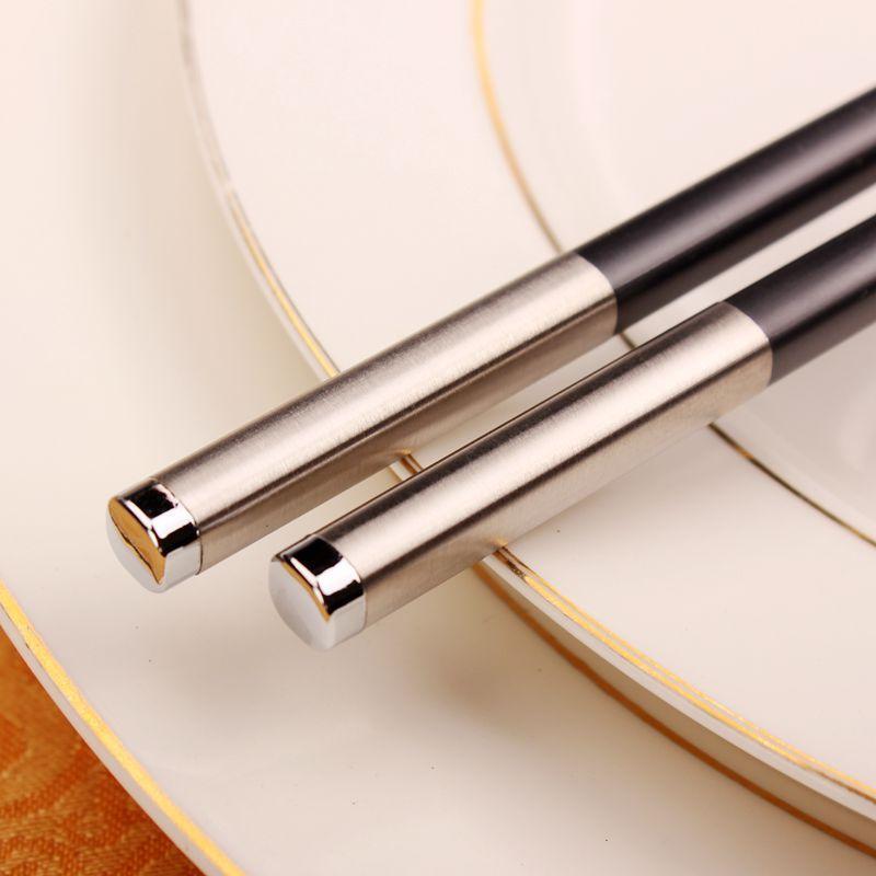 Çubuklarını Parti Metal Seti Suşi Asya Eğitim Pişirme Ramen Mutfak Gadgets Palillos Chinos Sofra DF50KZ
