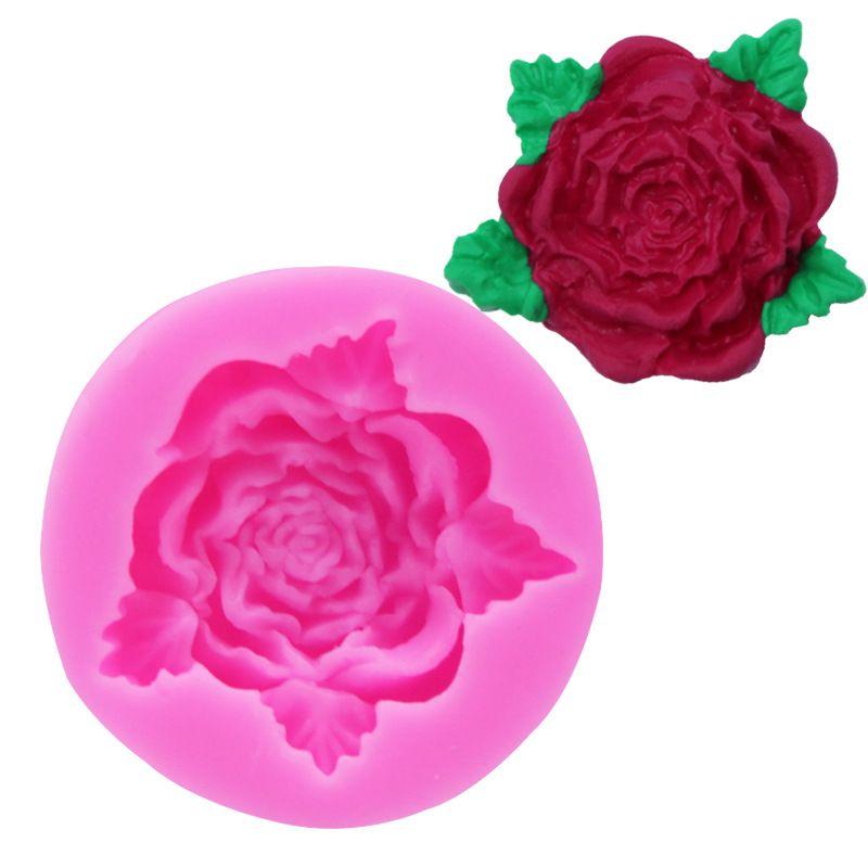 2021 Rose Flower Silicone Mold Fondant Cake Chocolate-Mold DIY Baking Tools