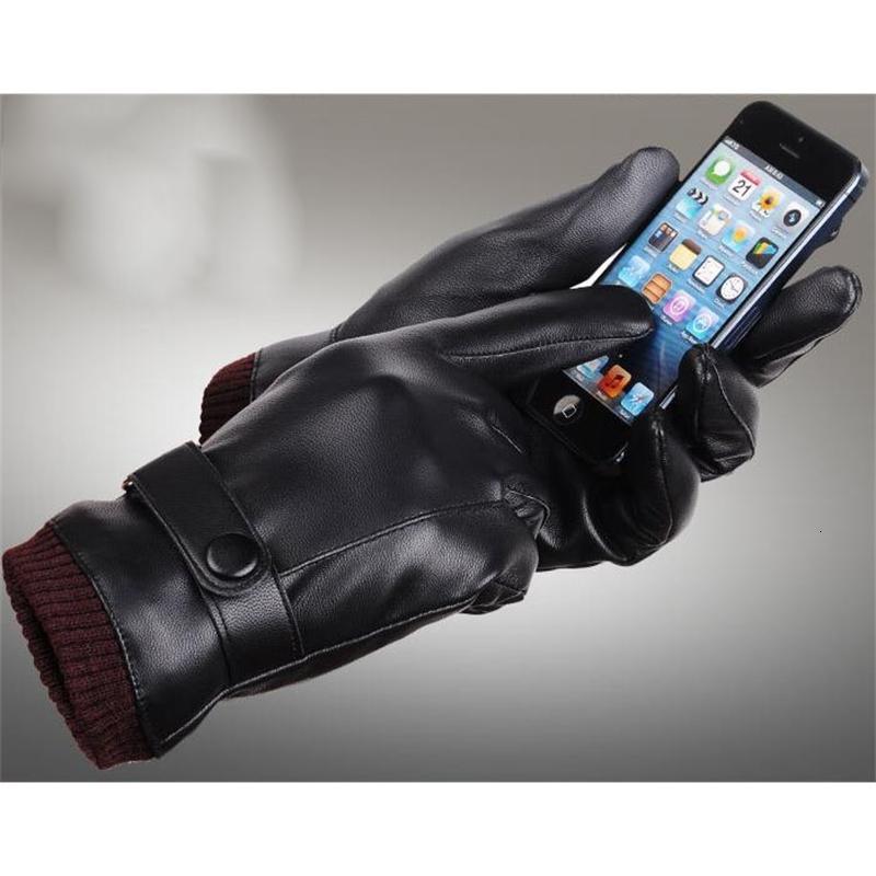 Guanti in pelle PU Designer Designer Mens Inverno Cinque dita Guanti Guanti Protetto Protetto Caldo Mantenimento dei guanti in ecopelle