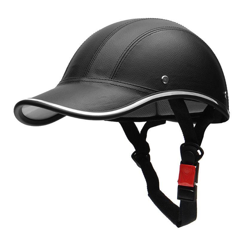 Moto mezzo casco da baseball berretto da baseball stile mezza faccia casco elettrico bici scooter anti-UV Cappello duro