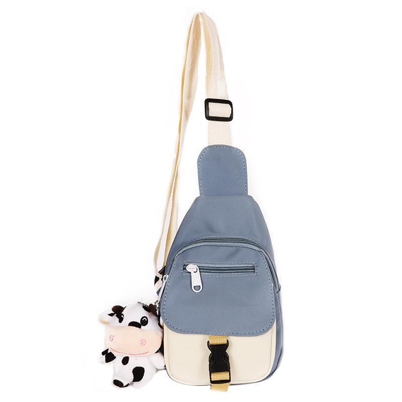 Waist Bags Small Women Chest Bag Fashion Korean Canvas Shoulder Messenger Female Students Crossbody For Girl 2021 Mini Phone