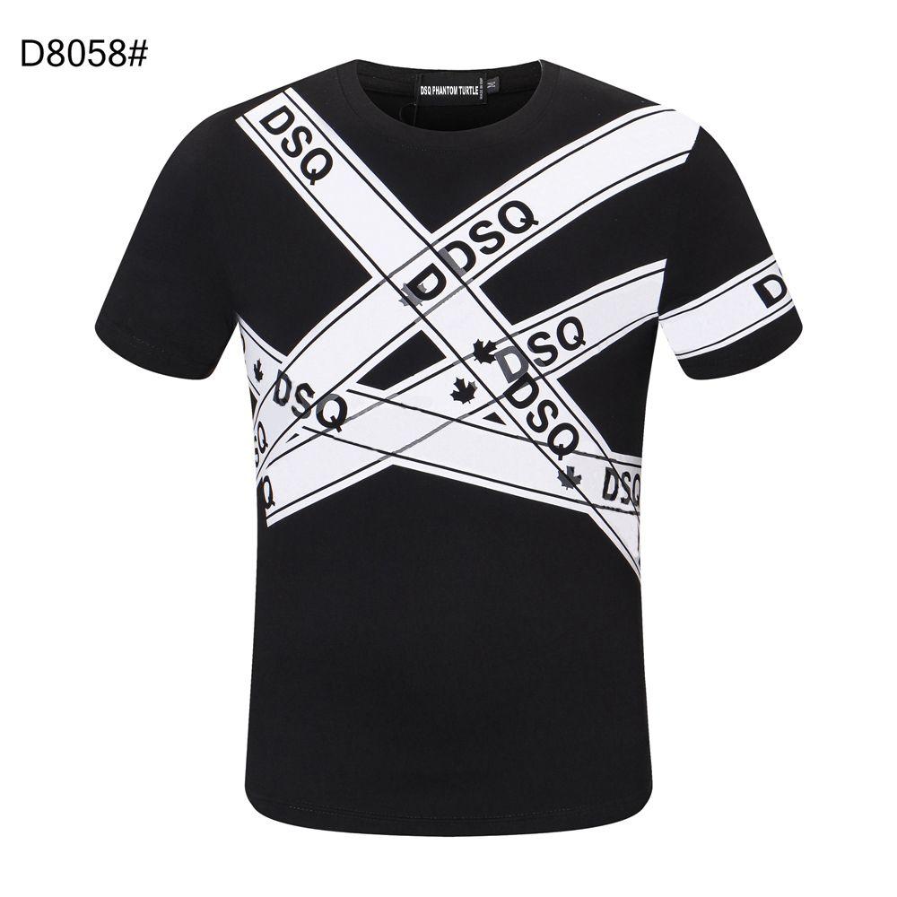 DSQ Phantom Turtle SS Hommes Designer T-shirt T-shirt Mode Italienne T-shirts Modèle DSQ T-shirt Homme Haute Qualité 100% coton Hauts 60214