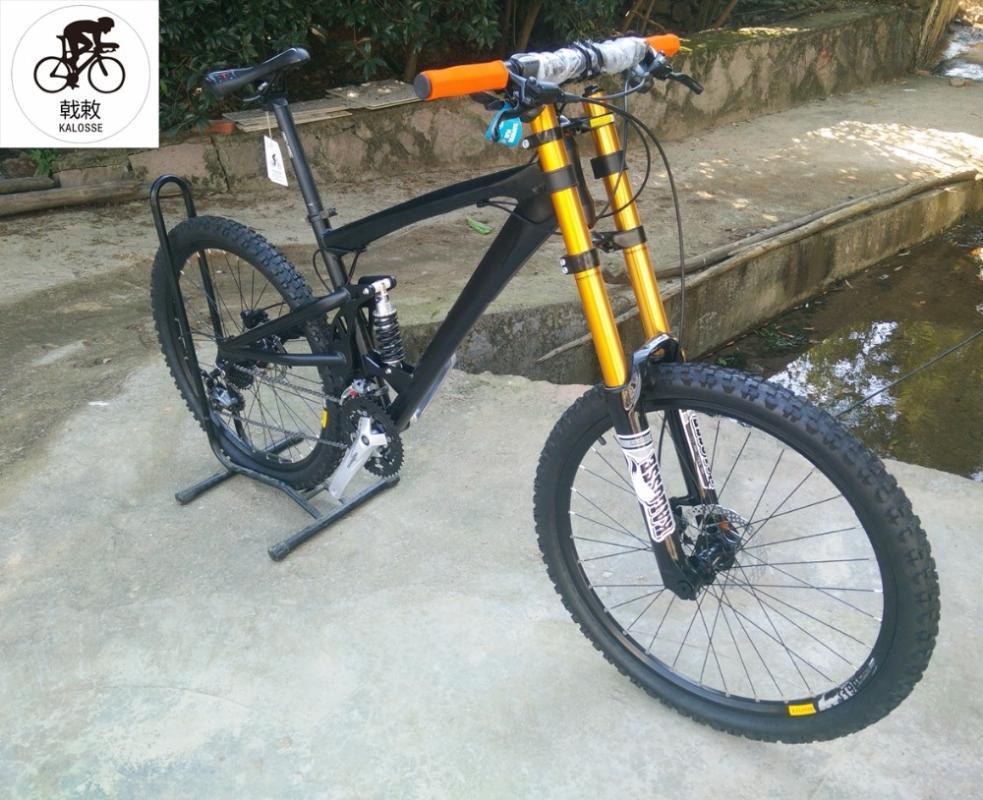Kalosse M390 Полная подвеска горных велосипедов AM / FR 26 * 2,35 дюйма шины на велосипеде 27 скорость 26ER DH Bikes