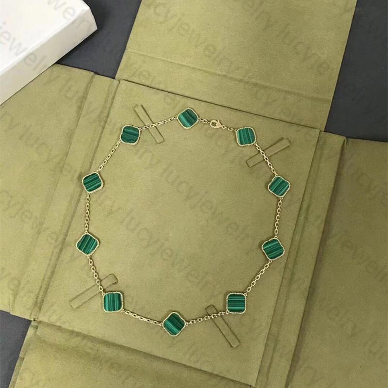 Collar de moda elegante diez trébol collares clásicos regalo para mujer joyería colgante altamente calidad 7 colores