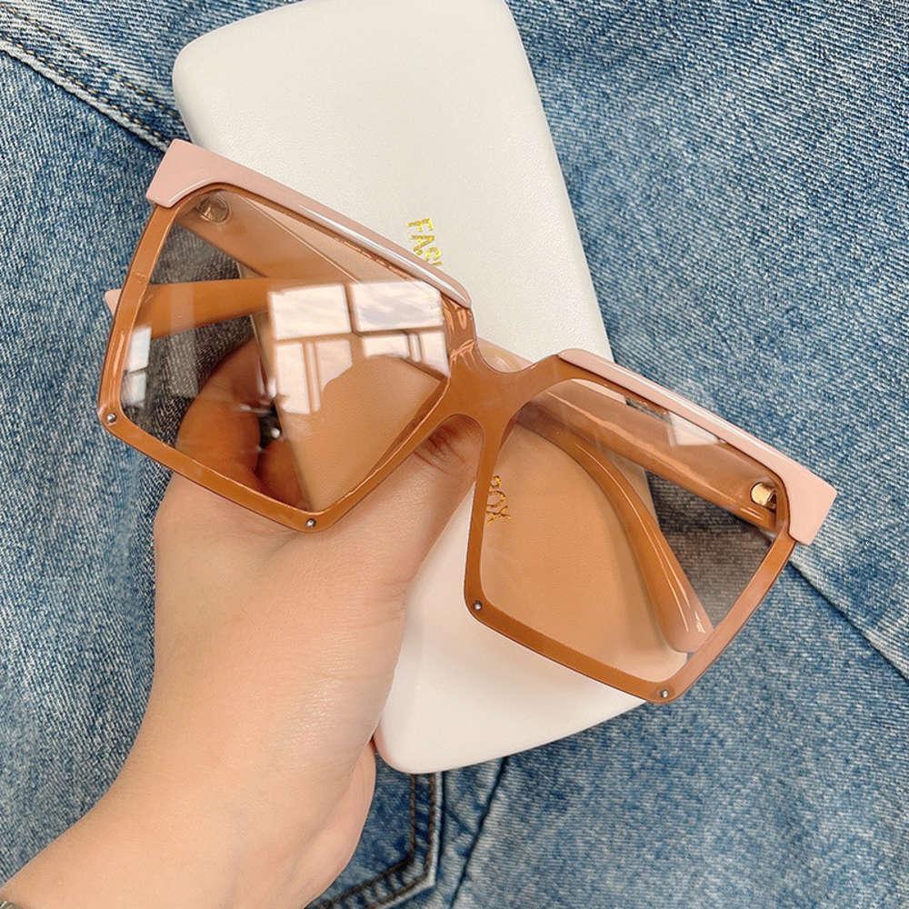 Square Leopard Sonnenbrille Designer für Frauen Luxus Vintage Elegant Eyewear Mode Trend Übergroße Farbtöne