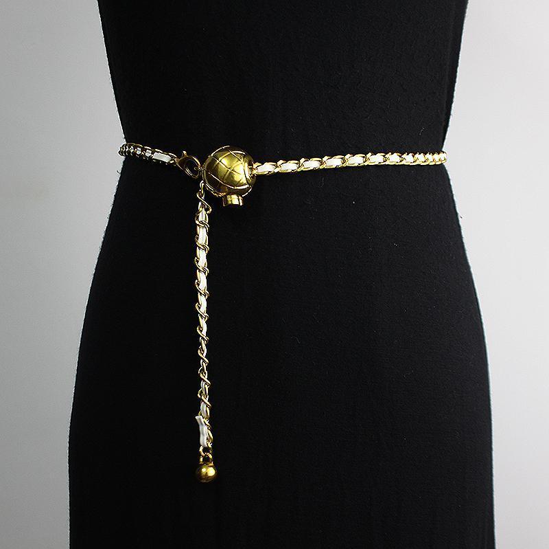Cintura da donna piccola fragranza maglione decorativo catena in vita con gonna vestito moda versatile cinture intrecciate