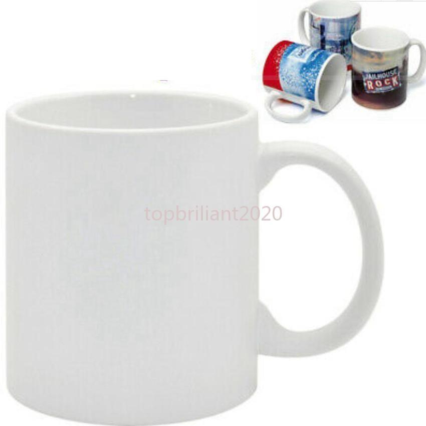 Сублимационные заготовки кружка личности термальная передача керамическая кружка 11 унций белый водяной кубок партии подарки для питья FY4483