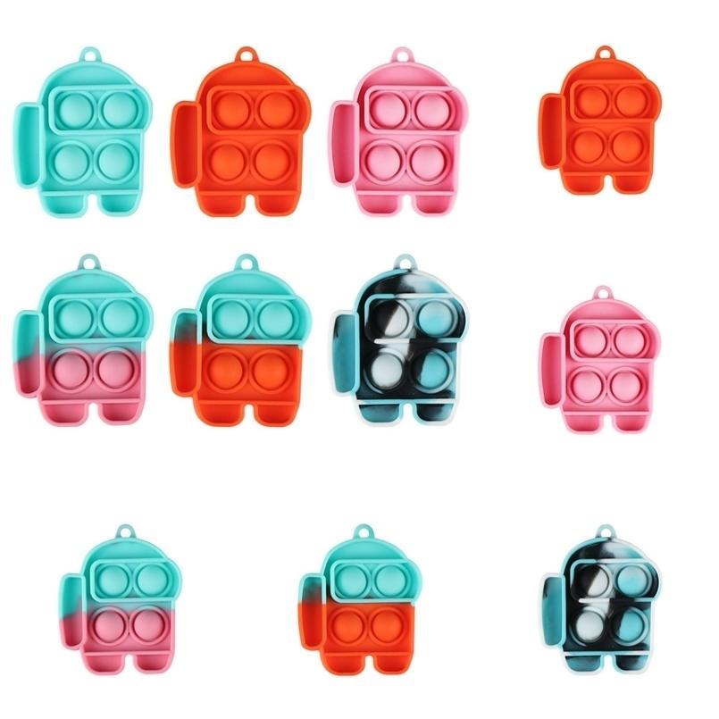 Pop Push Bubble Fidget Pads Chaveiros Brinquedos Sensoriais TIK TIK TIK TOK AUTISM NECESSIDADE NECESSIDADE STRESS BAG BAG PENDENTE G4UX15O