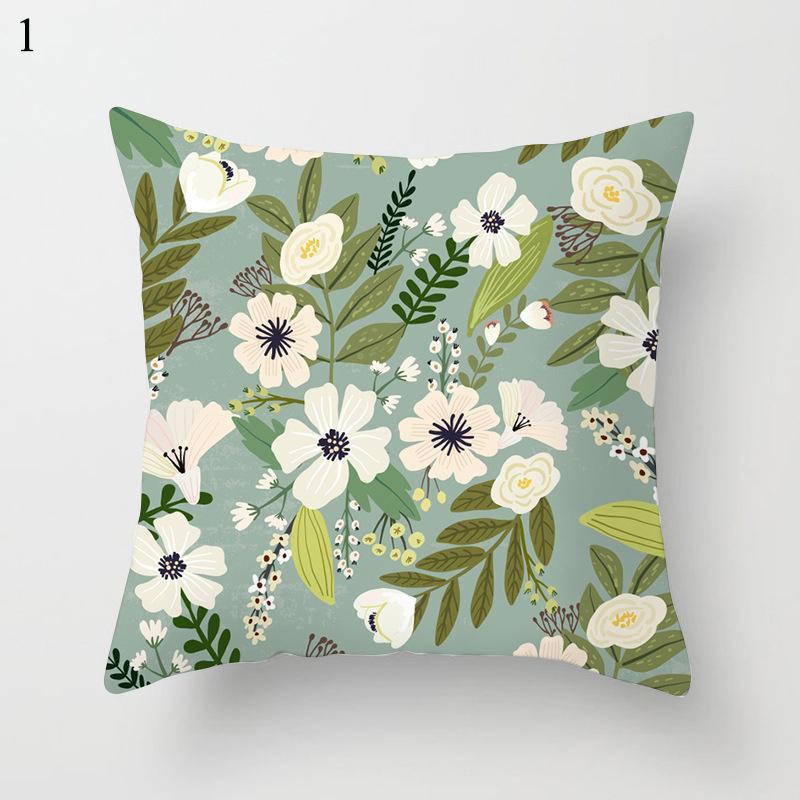 Kissen / dekorative Kissen Blumenmuster Dekorative Kissenbezug 45 * 45 Home Decor Smooth Pillowcase Weiche Fälle