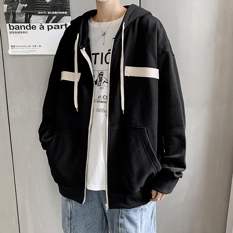 Chaquetas Cardigan Suéter Abrigo de hombre 2021 Moda Primavera y otoño Casual Sports Hood Fooled Top