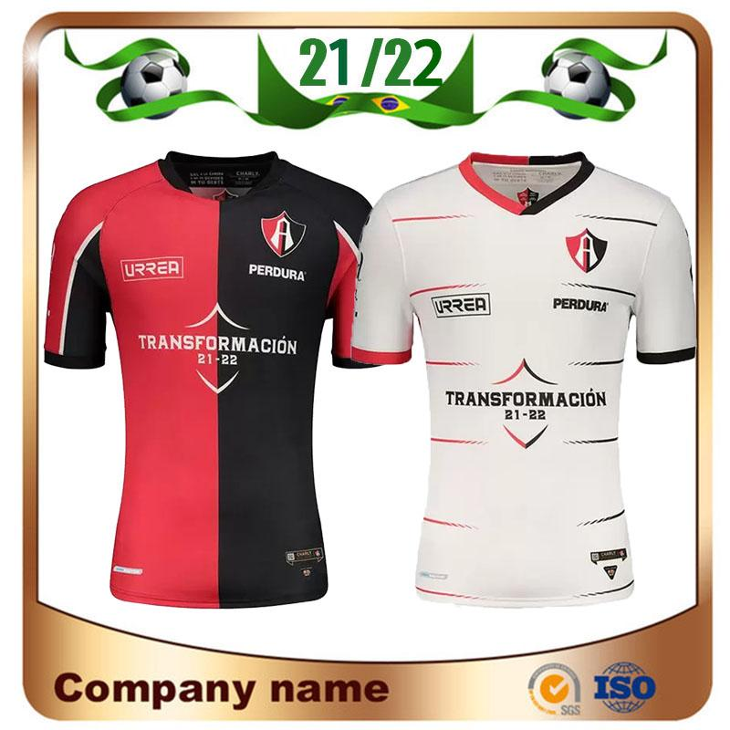 2021 Mexiko Club Atlas Soccer Jerseys 21/22 Startseite Rot J.barraza L.Caballero R.Marquez Hemd Away Gelb Football Uniform