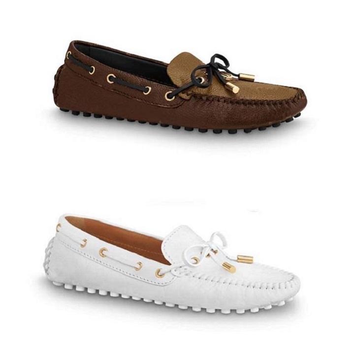 Classics Mocasines Mujer Vestido Zapatos Zapatillas de deporte planas Lienzo y Lámina Lámina Real Loafer Dos Tone Cap Toe Fashion Casual Shoe Home011 02