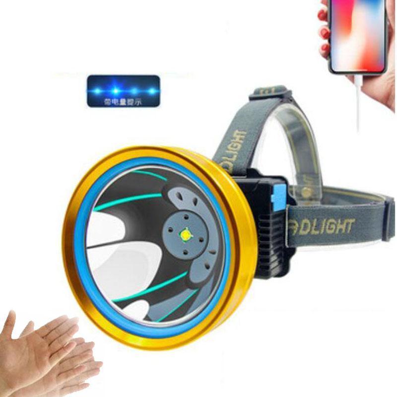 Фары T6 светодиодные фары USB аккумуляторная высокая мощность датчик датчика рыбалжевые лобские велосипедные фары головные факелы кемпинг освещение